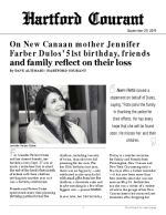 Click for pdf: On New Canaan mother Jennifer Farber Dulos' 51st birthday, friends and family reflect on their loss