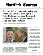 Click for pdf: Hartford Courant challenging gag order in criminal case against Fotis Dulos, estranged husband of missing New Canaan mother Jennifer Farber Dulos