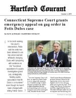 Click for pdf: Connecticut Supreme Court grants emergency appeal on gag order in Fotis Dulos case