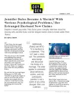 Click for pdf: Jennifer Dulos Became A 'Hermit' With 'Serious Psychological Problems,' Her Estranged Husband Now Claims